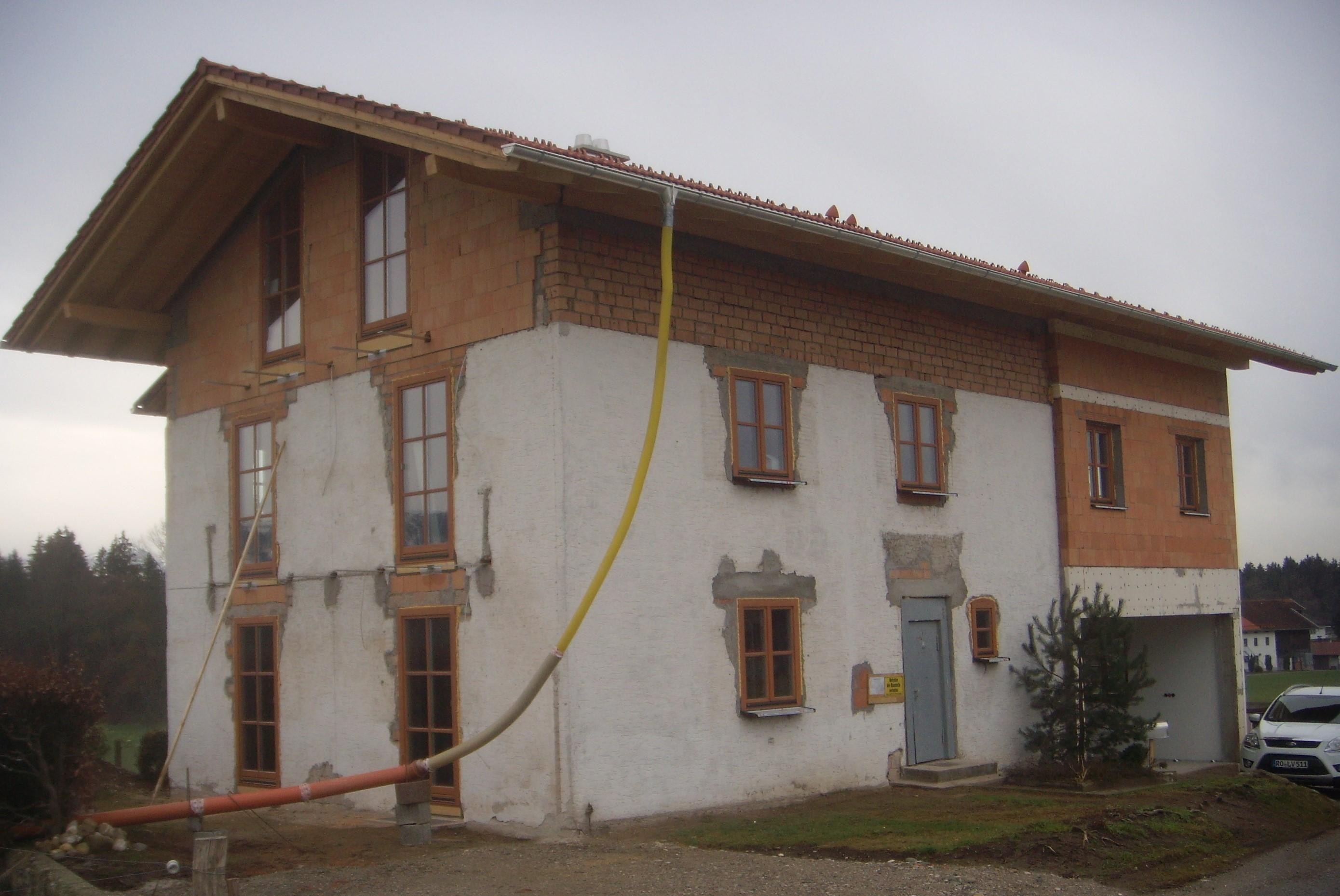 Neubau eines Einfamilienhauses in Ecking